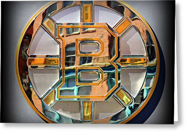 Boston Bruins Greeting Card by Stephen Stookey
