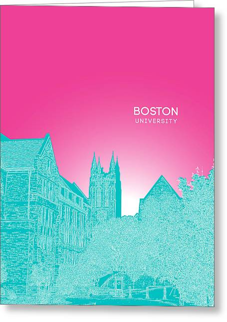 Boston College Gasson Hall Greeting Card by Myke Huynh