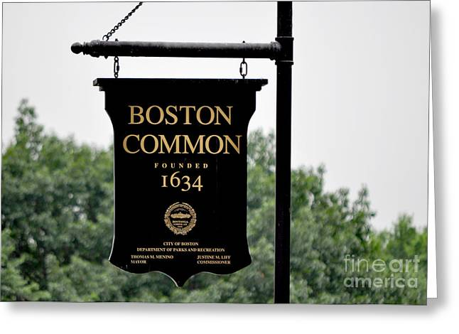 Boston Common Ma Greeting Card