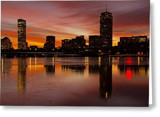 Boston Dawn Greeting Card by Ken Stampfer