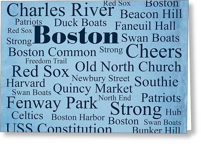 Boston Greeting Card by Denyse and Laura Design Studio