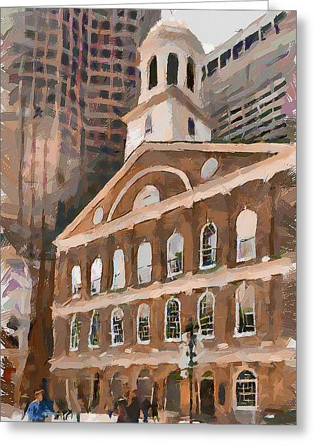 Boston Downtown 10 Greeting Card by Yury Malkov