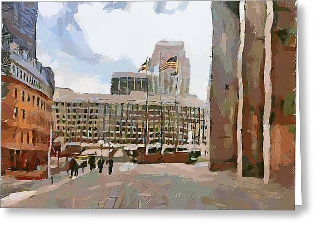 Boston Downtown 12 Greeting Card by Yury Malkov