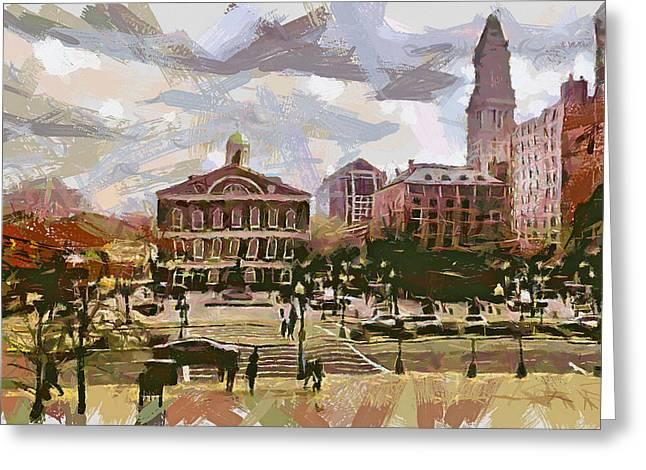 Boston Downtown 14 Greeting Card by Yury Malkov