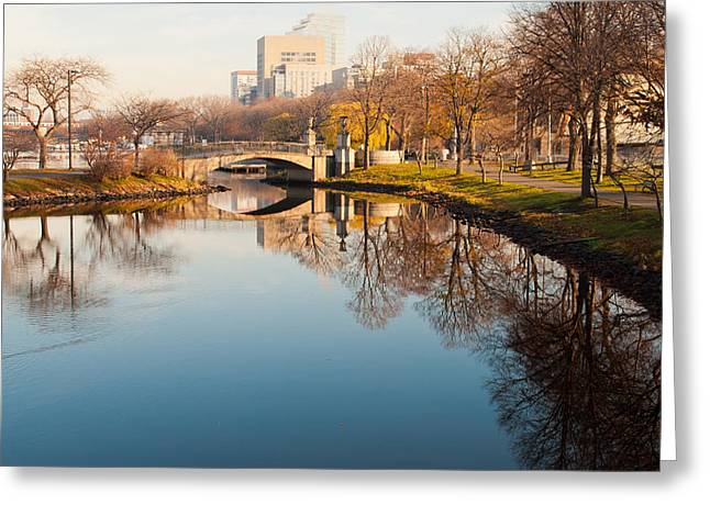 Boston Esplanade Greeting Card by Lee Costa