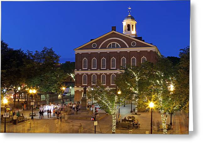 Boston Faneuil Hall Greeting Card by Juergen Roth