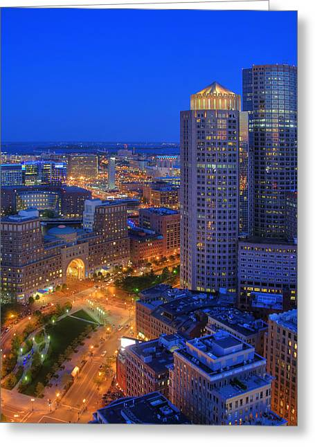 Boston Financial District And Seaport District Greeting Card by Joann Vitali