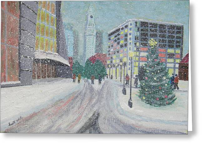 Boston First Snow Greeting Card