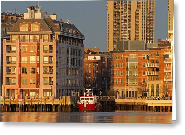 Boston Harbor Luxury Living Greeting Card by Juergen Roth