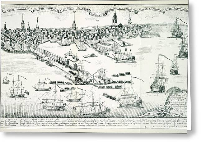 Boston Harbour Greeting Card by British Library