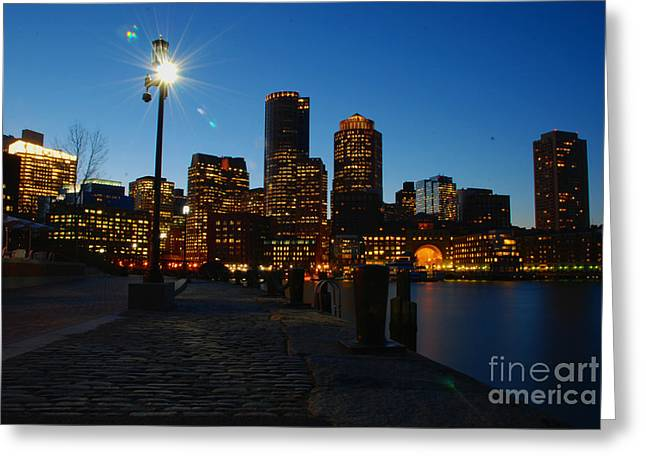 Boston Harbour Greeting Card