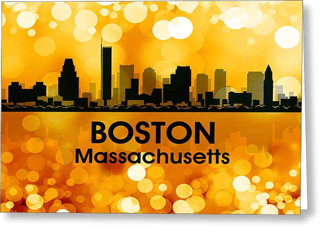 Boston Ma 3 Greeting Card