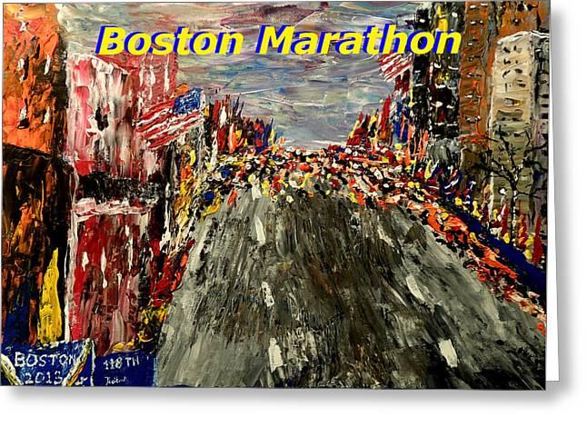 Boston Marathon 2 Greeting Card