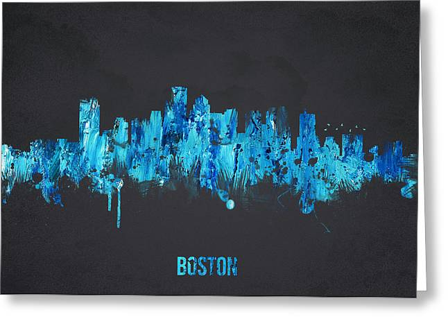 Boston Massachusetts Usa Greeting Card by Aged Pixel