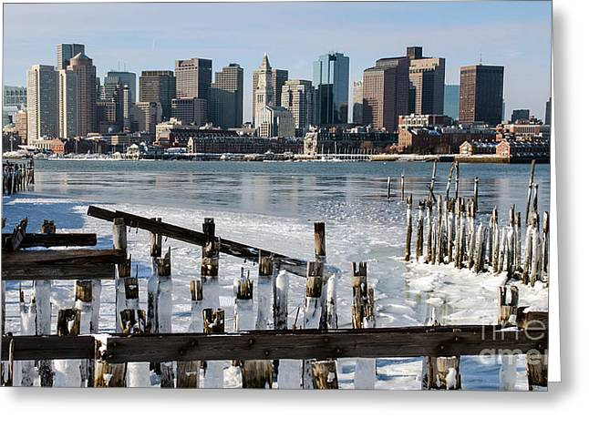 Boston - On The Rocks Greeting Card