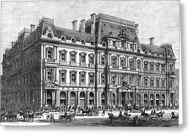 Boston Post Office, 1870 Greeting Card by Granger