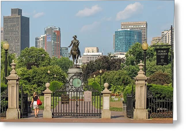 Boston Public Garden Greeting Card