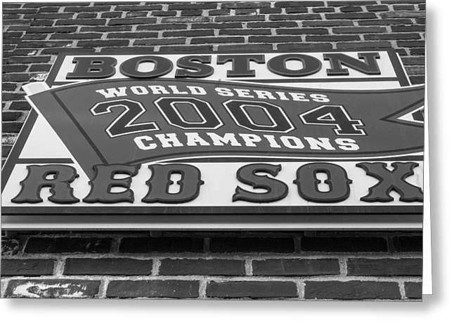 Boston Red Sox 2004 World Series Champions  Greeting Card by John McGraw