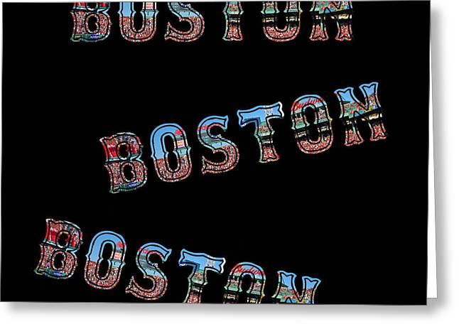 Boston Red Sox Duvet Greeting Card by Joann Vitali