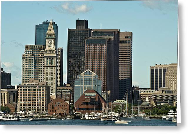 Greeting Card featuring the photograph Boston Skyline by Caroline Stella