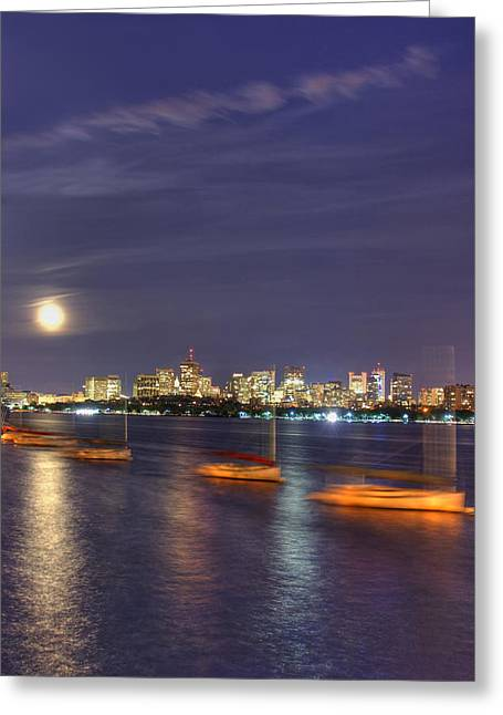 Boston Skyline From Memorial Drive Greeting Card