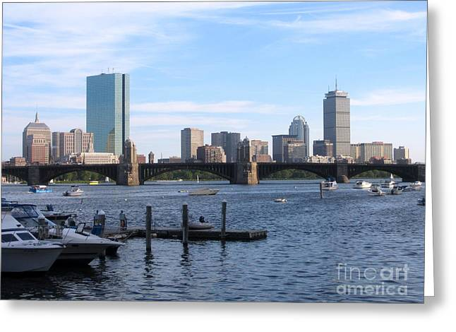 Boston Skyline Greeting Card by Jason Clinkscales