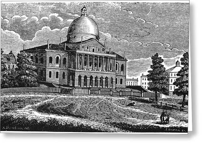 Boston State House, 1817 Greeting Card by Granger