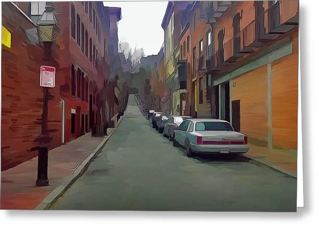 Boston Streets 2 Greeting Card by Yury Malkov