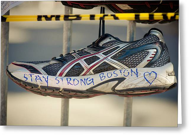 Boston Strong Greeting Card by Andrew Kubica