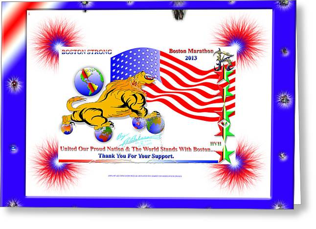 Boston Strong / Boston Marathon 2013 Greeting Card