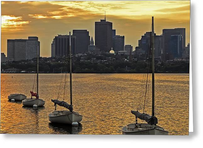 Boston Sunrise Greeting Card