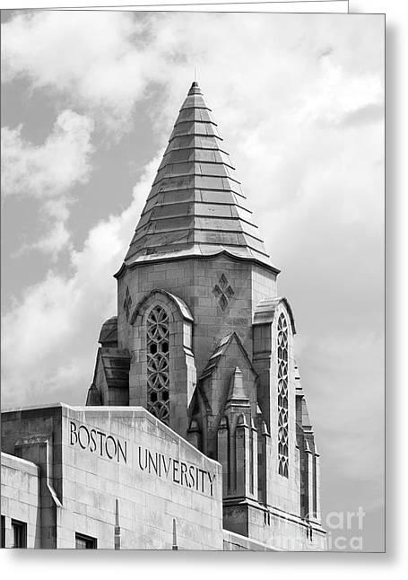 Boston University Tower Greeting Card by University Icons