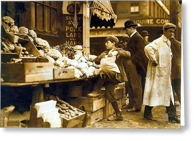 Boston Vegetable Seller 1909 Greeting Card