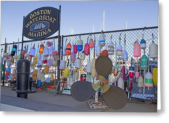 Boston Waterboat Marina Buoys  Greeting Card