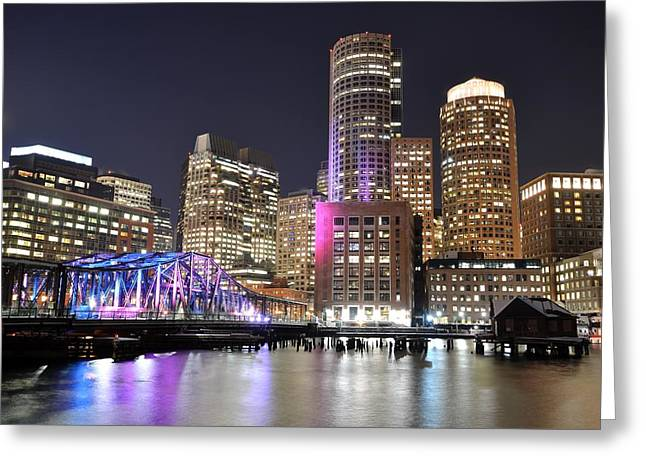 Boston Waterfront Greeting Card by Toby McGuire