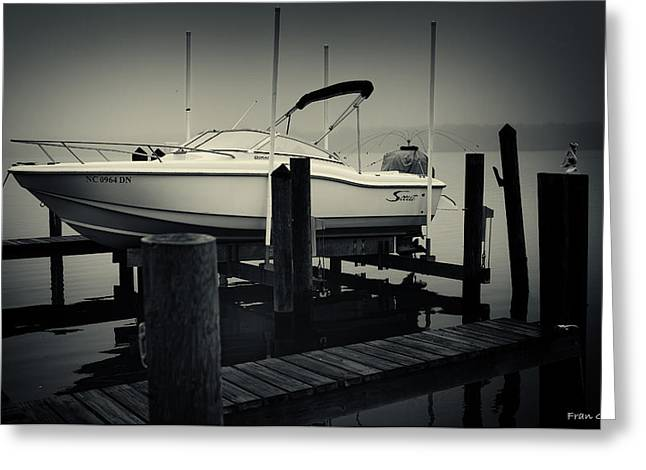 Boston Whaler In The Fog Greeting Card