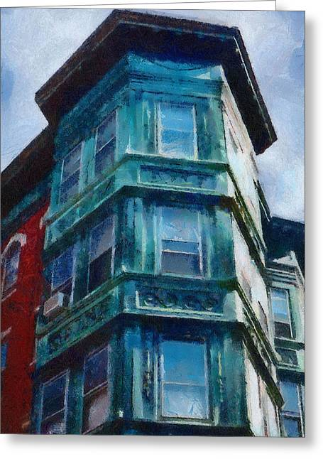 Boston's North End Greeting Card by Jeff Kolker