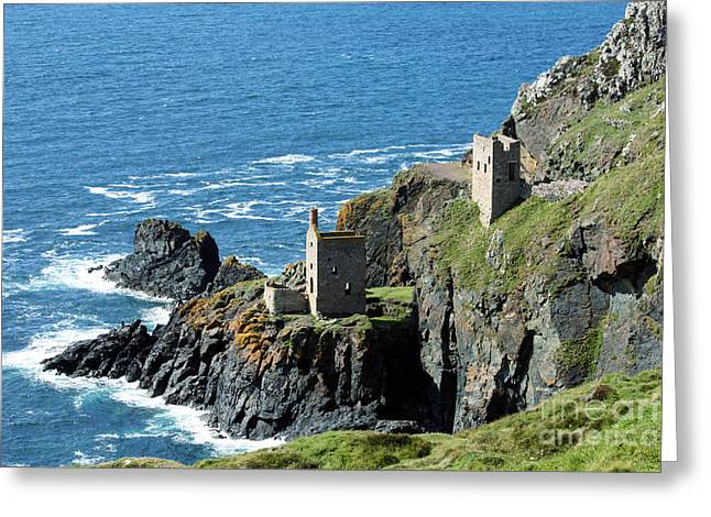 Botallack Crown Engine Houses Cornwall Greeting Card