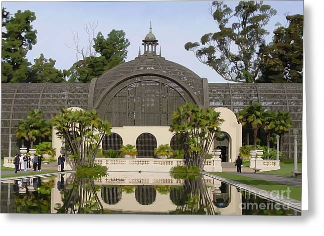 Botanical Building Greeting Card by John Engen