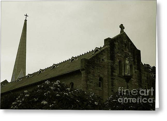 Botanical Gardens Cathedral Greeting Card by Cheryl Boutwell