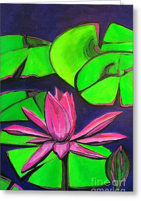 Botanical Lotus 1 Greeting Card by Grace Liberator