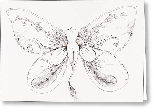 Botanicalia Jennifer Greeting Card by Karen Robey
