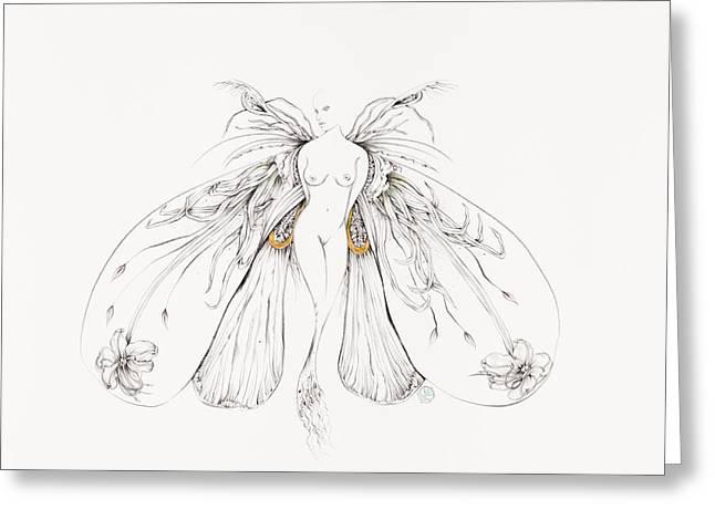 Botanicalia Jackie Greeting Card by Karen Robey