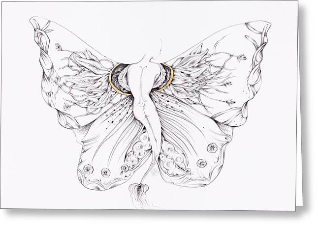 Botanicalia Vanessa Greeting Card by Karen Robey