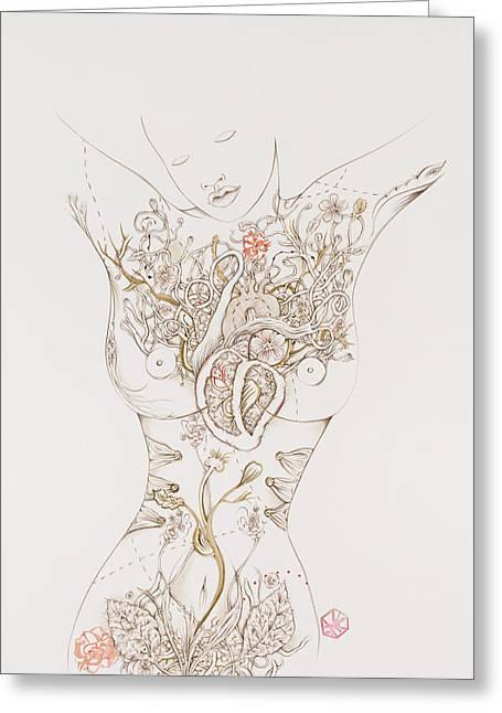 Botanicalia Chandra Greeting Card by Karen Robey