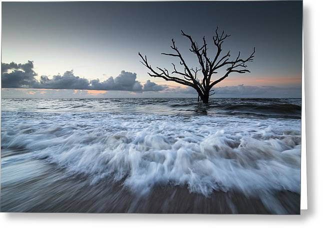 Greeting Card featuring the photograph Botany Bay Power by Serge Skiba