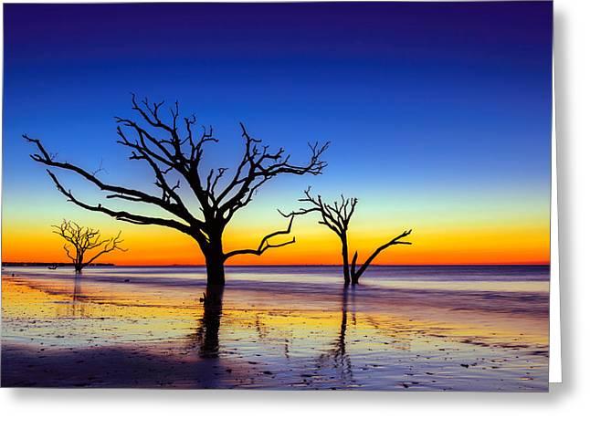 Botany Bay Sunrise On Edisto Island South Carolina Greeting Card by Serge Skiba