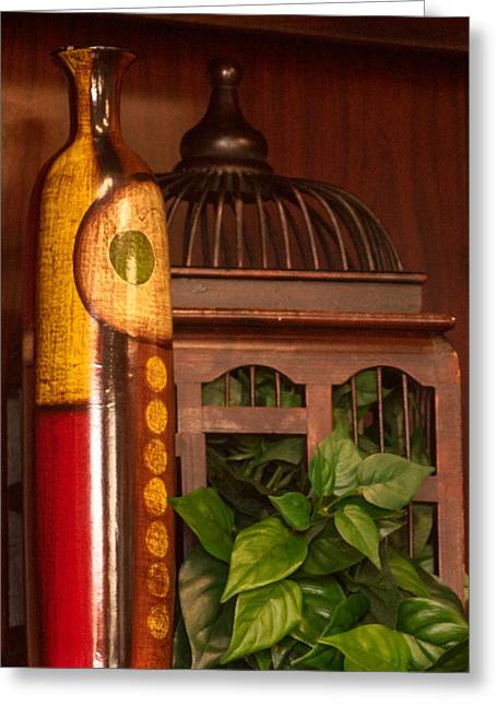 Bottle And Cage  Greeting Card by Douglas Barnett