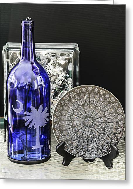 Bottle And Plate Greeting Card