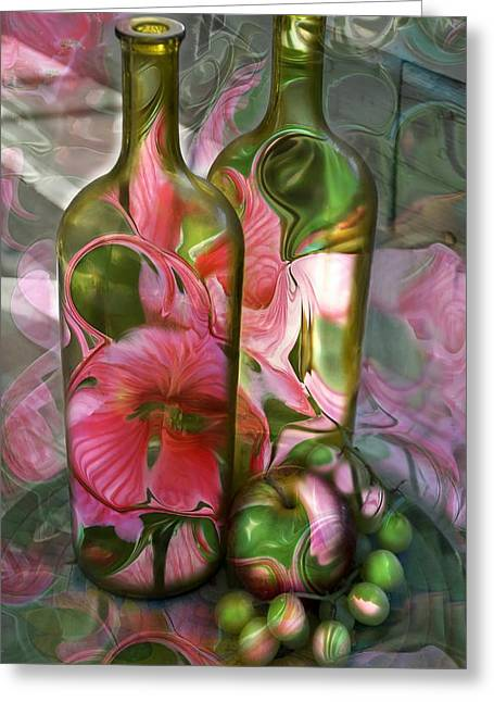 Bottle Art Greeting Card by Sharon Beth
